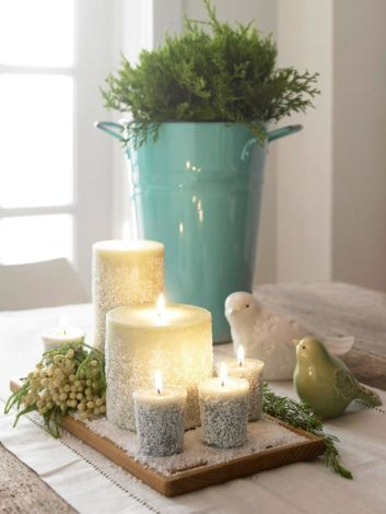 Fabulous christmas decoration ideas using candles 03