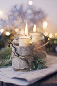 Fabulous christmas decoration ideas using candles 27