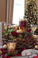 Fabulous christmas decoration ideas using candles 30