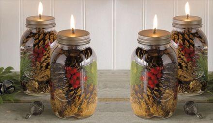 Fabulous christmas decoration ideas using candles 35