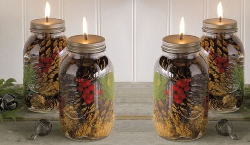 Fabulous christmas decoration ideas using candles 35
