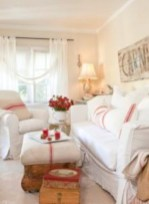 Gorgeous red and white living rooms ideas 30