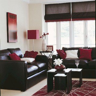 Gorgeous red and white living rooms ideas 44