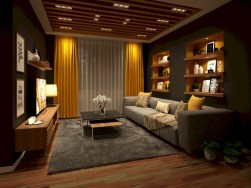 Gorgeous yellow accent living rooms inspiration ideas 06