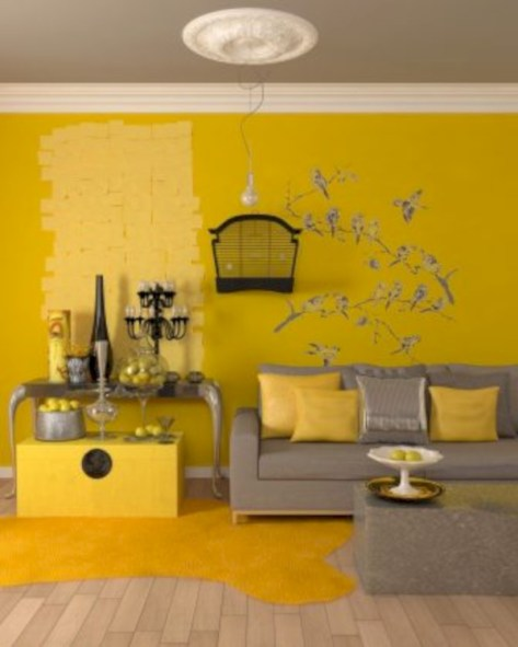 Gorgeous yellow accent living rooms inspiration ideas 10