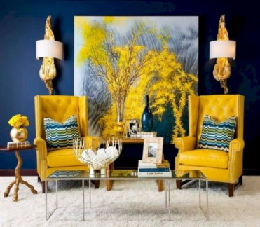 Gorgeous yellow accent living rooms inspiration ideas 21