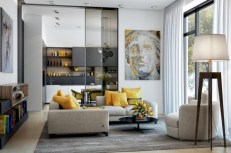 Gorgeous yellow accent living rooms inspiration ideas 27