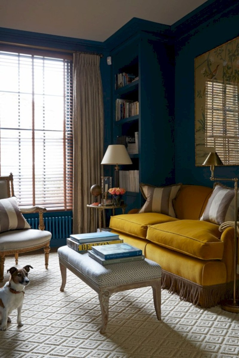 Gorgeous yellow accent living rooms inspiration ideas 31