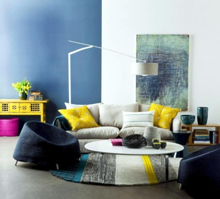 Gorgeous yellow accent living rooms inspiration ideas 35