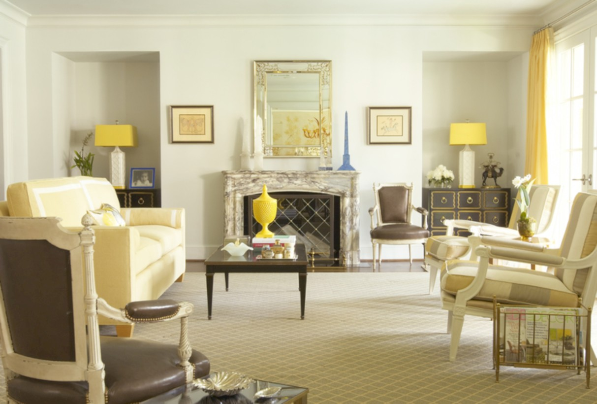 Gorgeous yellow accent living rooms inspiration ideas 39