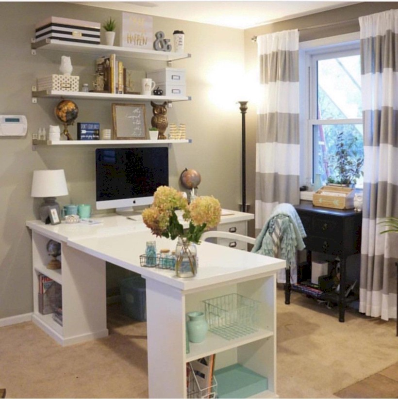 Inspirational home office desks ideas you will totally love 29