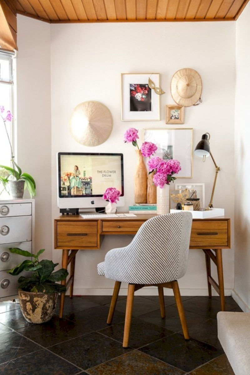 Inspirational home office desks ideas you will totally love 38