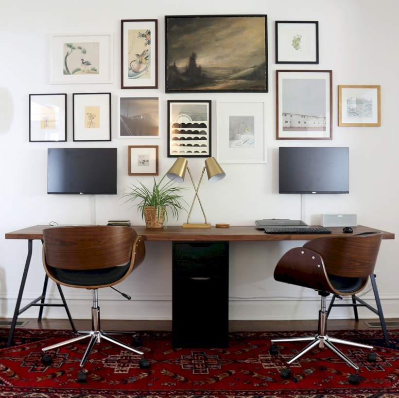 Inspirational home office desks ideas you will totally love 42