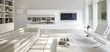 Modern living room wall units ideas with storage inspiration 04