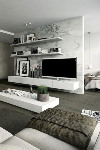 Modern living room wall units ideas with storage inspiration 15