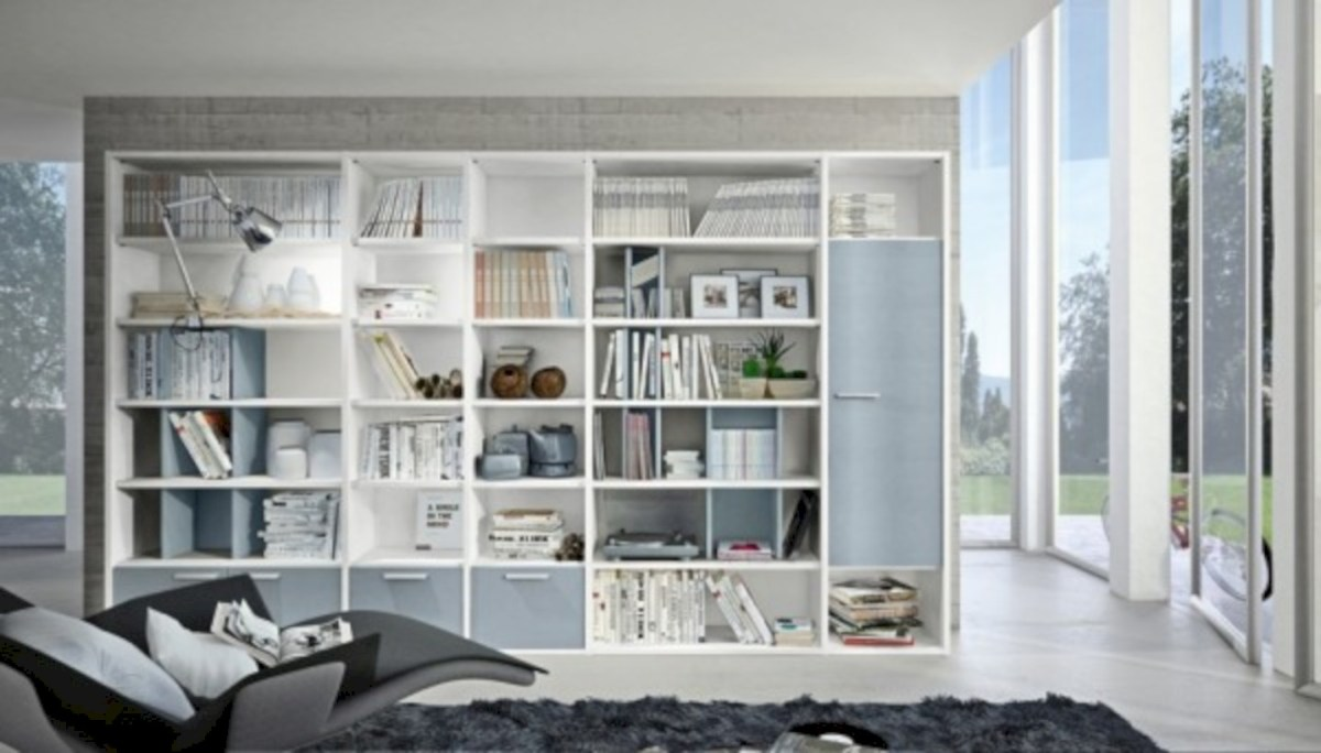Modern living room wall units ideas with storage inspiration 19