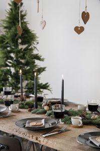 Simple rustic christmas table settings ideas 05