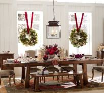 Simple rustic christmas table settings ideas 08
