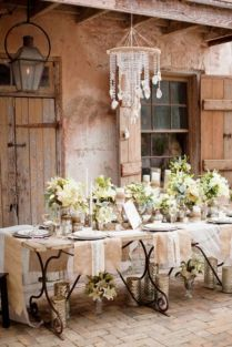 Simple rustic christmas table settings ideas 18