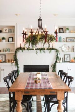 Simple rustic christmas table settings ideas 19