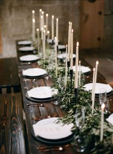 Simple rustic christmas table settings ideas 32