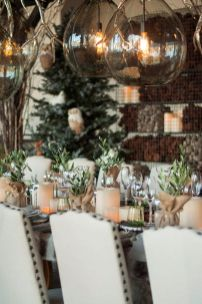 Simple rustic christmas table settings ideas 34