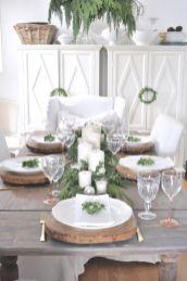 Simple rustic christmas table settings ideas 39