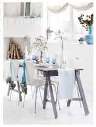 Simple rustic christmas table settings ideas 41