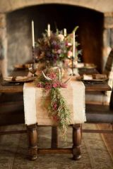 Simple rustic christmas table settings ideas 46