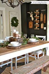 Simple rustic christmas table settings ideas 47