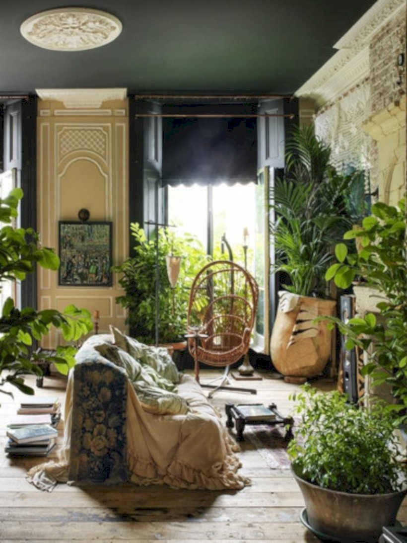 Stunning indoor plants ideas for your living room and bedroom 36
