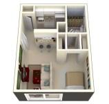 Stylish studio apartment floor plans ideas 04
