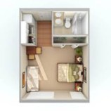 Stylish studio apartment floor plans ideas 05