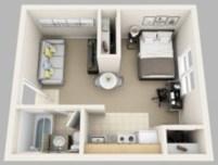 Stylish studio apartment floor plans ideas 07