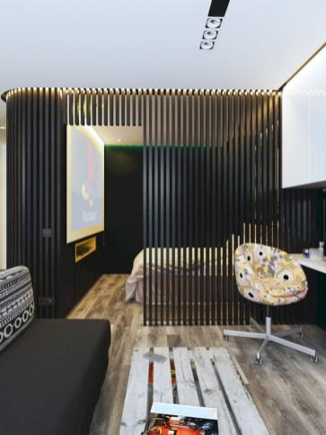 Stylish studio apartment floor plans ideas 15