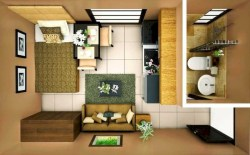 Stylish studio apartment floor plans ideas 16