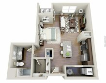 Stylish studio apartment floor plans ideas 17