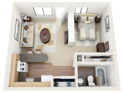 Stylish studio apartment floor plans ideas 18