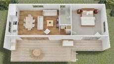 Stylish studio apartment floor plans ideas 34