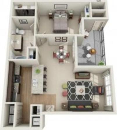 Stylish studio apartment floor plans ideas 35