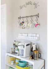 Affordable apartment coffee bar cart inspirations ideas 07