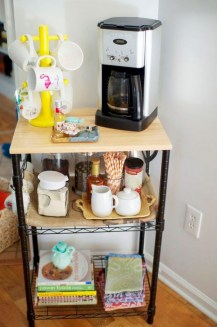 Affordable apartment coffee bar cart inspirations ideas 21