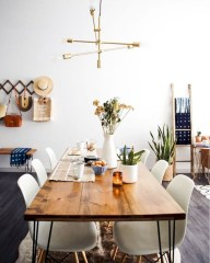 Awesome mid century modern dining room table decor ideas 33
