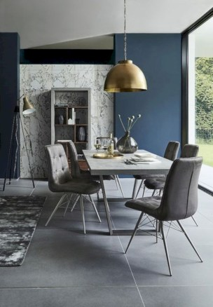 Awesome mid century modern dining room table decor ideas 43
