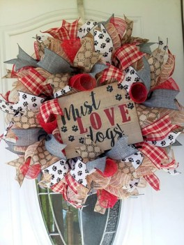Awesome valentine wreaths ideas for your front door 02