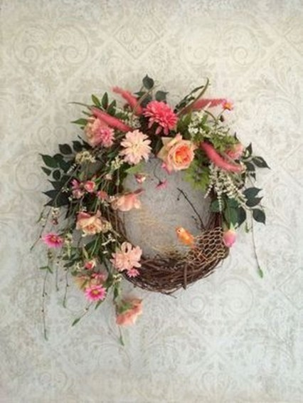 44 Awesome Valentine Wreaths Ideas For Your Front Door Round Decor