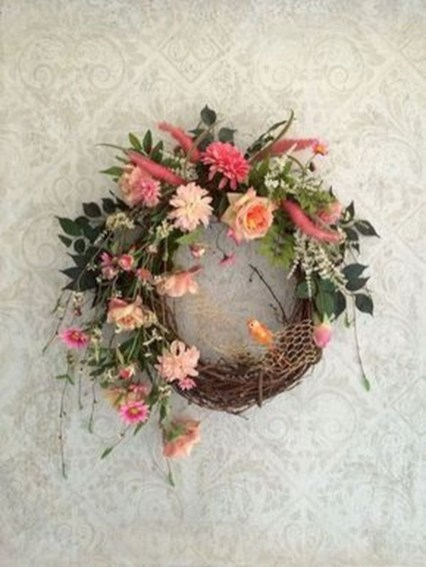 Awesome valentine wreaths ideas for your front door 36