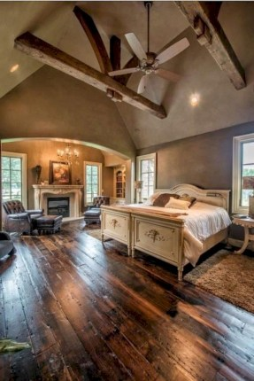 Beautiful farmhouse master bedroom decorating ideas 43