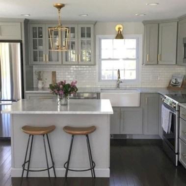 Beautiful gray kitchen cabinet design ideas 08