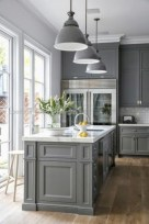 Beautiful gray kitchen cabinet design ideas 17